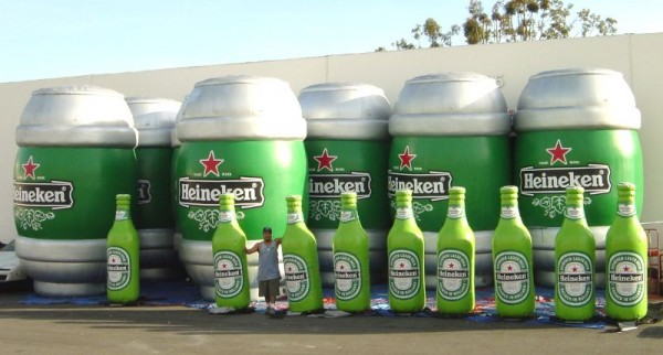 Heineken Beer Keg & Bottle Inflatables