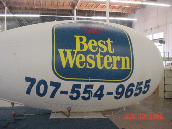 24ft Nylon Advertising Blimp
